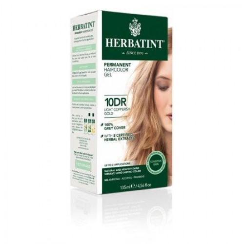 HERBATINT ilgnoturīga, dabīga augu gēlveida matu krāsa 10DR - Gaišs vara zeltīts