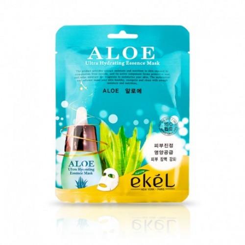 EKEL Aloe Ultra Hydrating Essence Mask Mitrinoša nomierinoša auduma maska ar alvejas ekstraktu