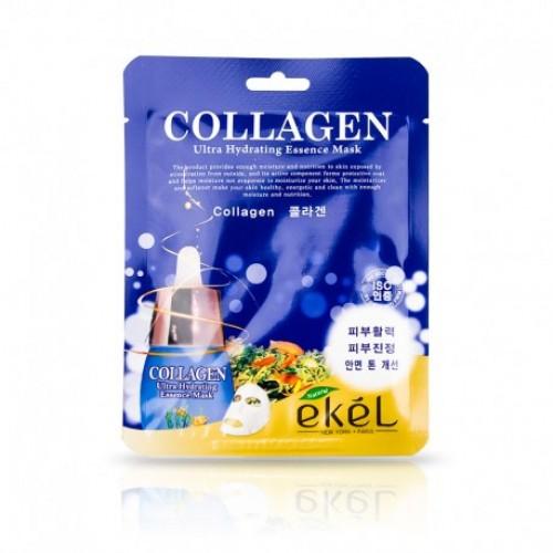 EKEL Collagen Ultra Hydrating Mask Auduma maska ādas tvirtumam ar kolagēnu