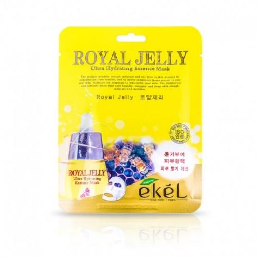 EKEL Ultra Hydrating Essence Mask (Royal Jelly) Reģenerējoša auduma maska taukainai un problemātiskai ādai