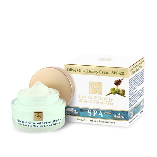 H&B Olive Oil & Honey Cream SPF20 - sejas krēms ar olīveļļu un medu