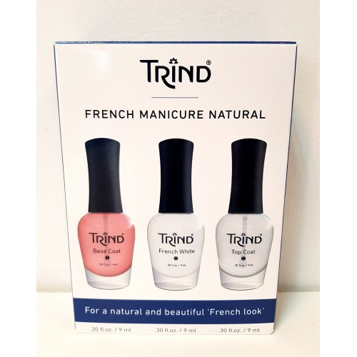 Trind French Manicure Natural - dāvanu komplekts frānču manikīram