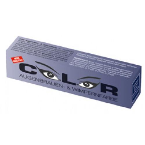 COLOR blue black Eyebrow and eyelash colour 15ml - krāsa skropstām un uzacīm melni zila
