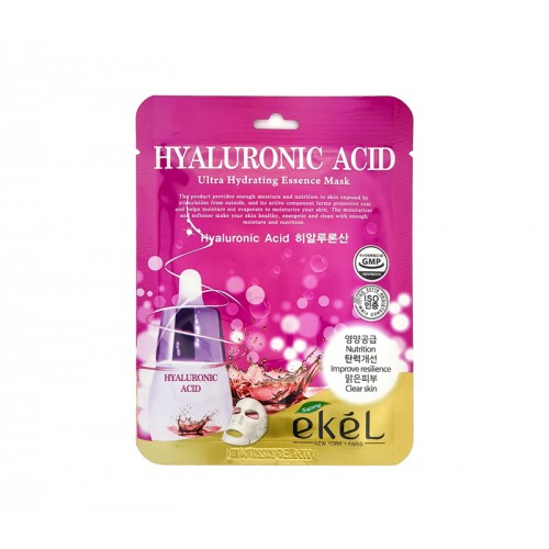 EKEL Aqua Hyaluronic Acid Hydraiting Essence mask - Mitrinoša auduma maska ar hialuronskābi