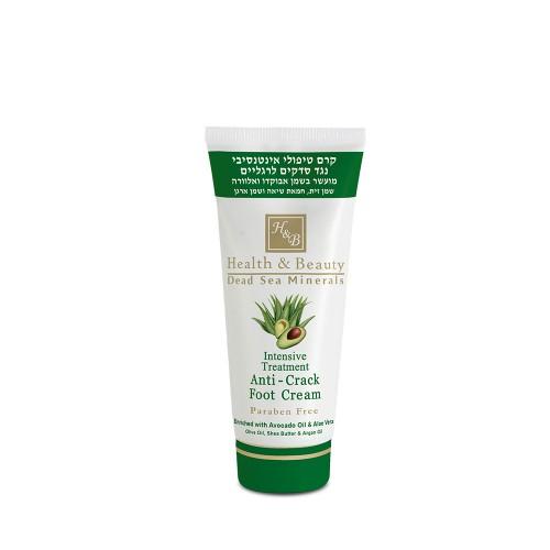 Intensive Treatment Anti-Crack Foot Cream with Avokado Oil and Aloe Vera, 100ml - intensīvi kopjošs krēms kājām, pret plaisām ar avokado eļļu un alveju