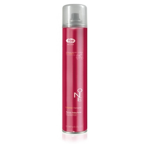 Lisap Milano Lisynet ONE Extra Strong - Profesionālā matu laka ļoti stipras fiksācijas ar žožobas eļļu