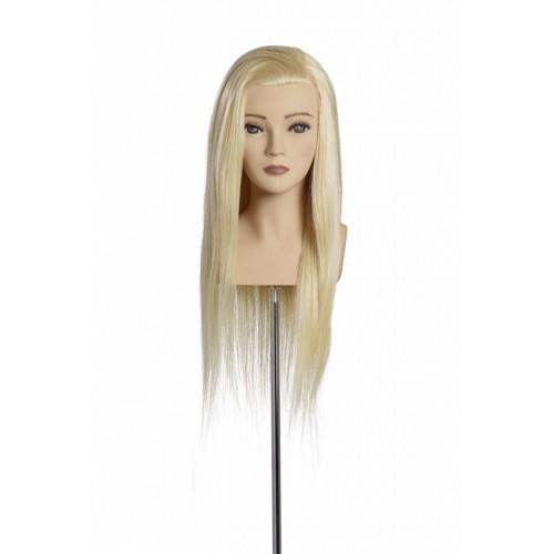 Manekena galva Elena ar 100% naturāliem matiem 50cm