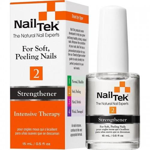 Nail Tek II Intensive Therapy nagu stiprināšanas līdzeklis plāniem un mīkstiem nagiem 15ml