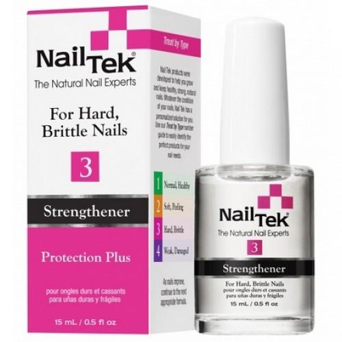 Nail Tek III Protection Plus sausiem un lūztošiem nagiem, 15ml