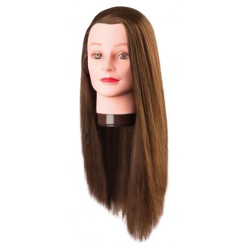 Manekena galva Pia ar 100% proteīna matiem 60cm