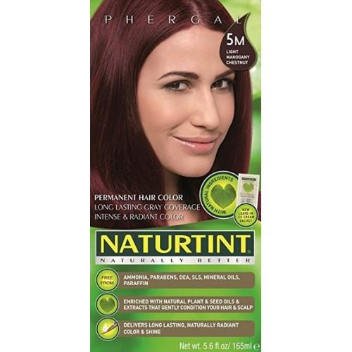 Naturtint Green technologies matu krāsa 5M GAIŠI SARKANBRŪNS 165ml