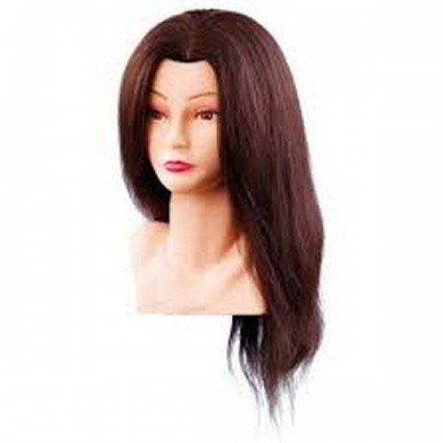 Manekena galva/manekens Ellen ar naturāliem matiem 40cm