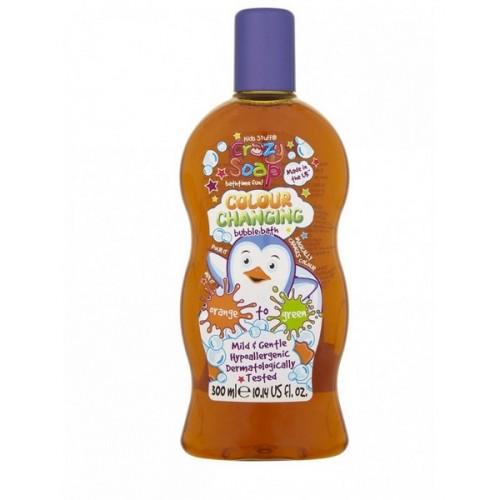 KIDS STUFF krāsu mainošas vannas putas bērniem oranžas-zilganzaļas 300ml