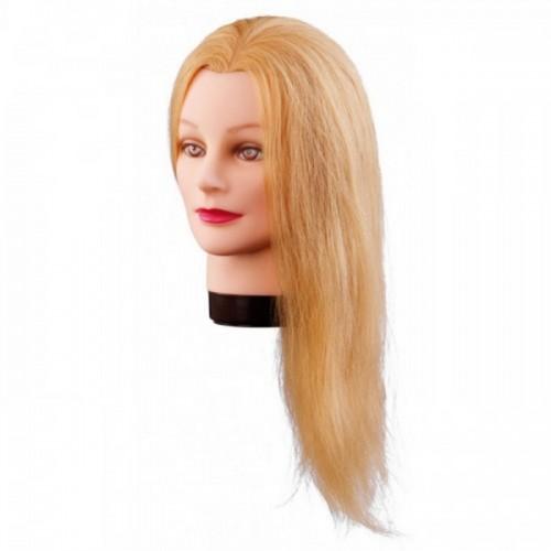 Manekena galva/manekens Lilly, blonde ar naturāliem matiem 40cm