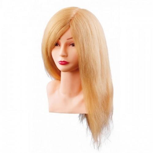 Manekena galva/manekens Louisa, blonde ar naturāliem matiem 40cm