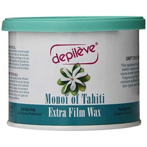 Monoi of Tahiti Extra Film Wax vasks ar monoi eļļu 400g