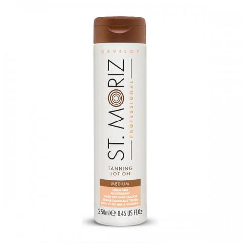 St. Moriz Professional  Self Tanning Lotion Medium 250ml - pašiedeguma krēms - vidēji tumšam iedeguma tonim